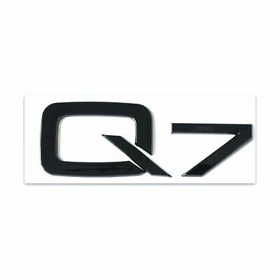 Audi Q7 Gloss Black Emblem 3D Trunk Logo Badge Rear Tailgate Lid Nameplate SQ7