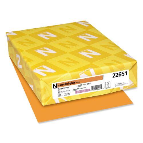 Wausau Neenah Astrobrights Colored Copy Paper 24 lb Cosmic Orange - 500 ct.