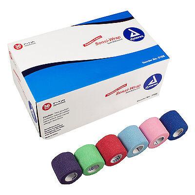 "Dynarex Sensi Wrap Self Adherent Bandages, Rainbow, 2"" x 5 yds, 36/CS, 3182"