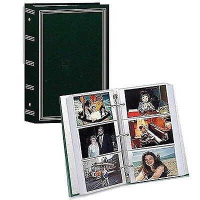 NEW Photo Album 4x6 Slip In 500 Photos Green Memory Family Wedding Baby Vintage
