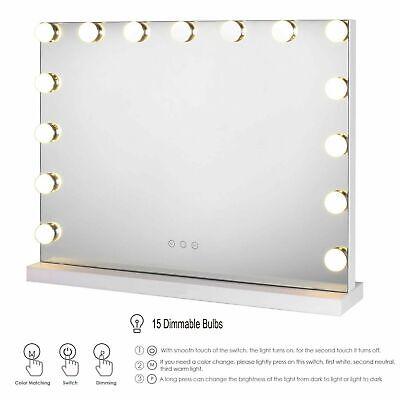 58x43cm Hollywood Mirror Dressing Table Desk Vanity Make up Mirrors w/ LED Light