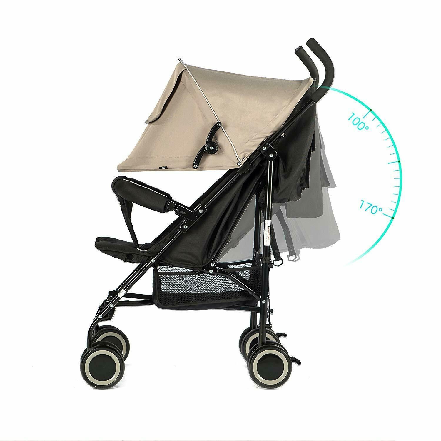 Evezo Travis Lightweight Compact Umbrella Toddlers Stroller