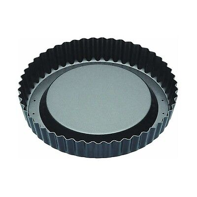 "Master Class Non-Stick Raised Fluted Sponge Flan Tin With Loose Base 20 cm (8"")"