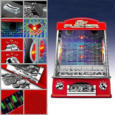 Fairground Penny Pusher Coin Operated Arcade Kids Light and Sounds Party Game