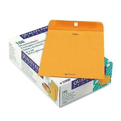 Quality Park 9 X 12 Clasp Envelopes Mailer Gummed Flap Brown Kraft - 100 Ct.