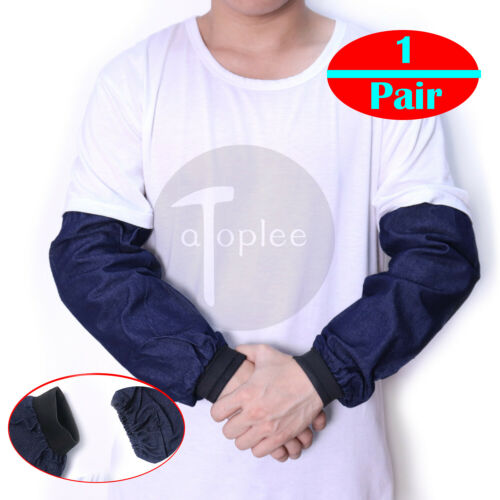 1Pair Welding Arm Sleeves Knit Heat Protection Cut Resistant Safety Denim Sleeve
