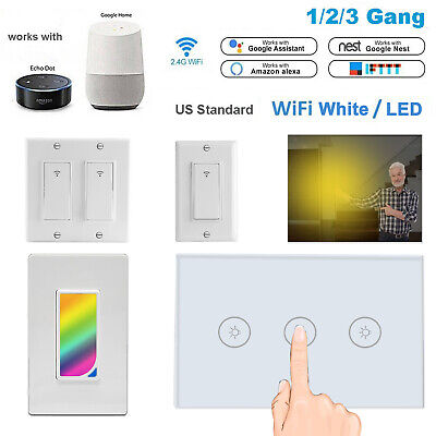 Touch Wall Control - Smart Touch Wi-Fi Wall LED Light Switch Remote Control For Alexa & Google IFTTT