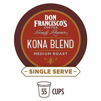 Don Francisco's Kona Blend Coffee 55 to 165 Keurig Kcups Pick Any Size Free -