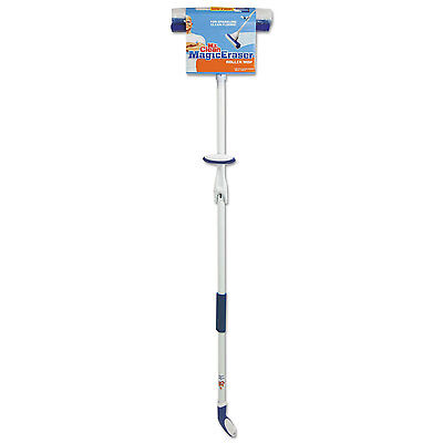 "Mr. Clean Magic Eraser Roller Mop 45"" Handle 10 1/2 x 3 Head White/Blue 446840"