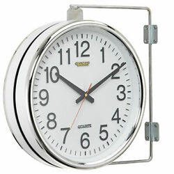 Double Sided Wall Clock, Battery Operated, Lot of 1