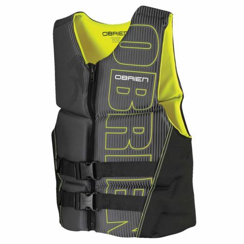 O'Brien Men's Flex V-Back Neoprene Life Vest, Yellow, XX-Lar