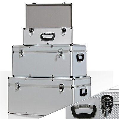 Masko® 3er SET Boxen Alubox Alukiste Transportbox Werkzeugkiste Lagerbox Silber