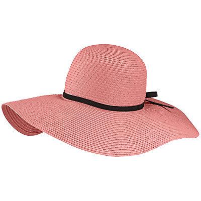 Damen Sommer Breite Krempe Fedora Glocke Schlapphut - Pink
