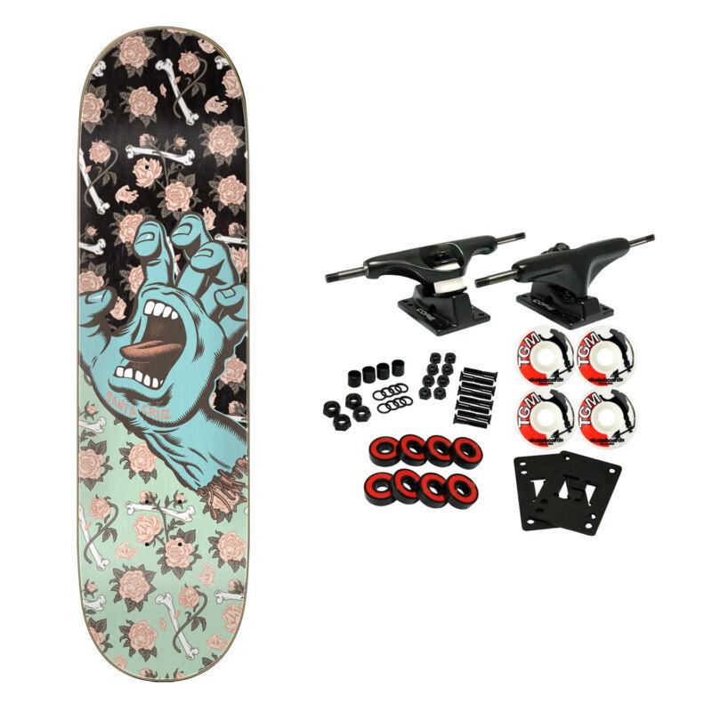 "Santa Cruz Skateboard Complete Floral Decay Hand Team 8.25"" x 31.8"""