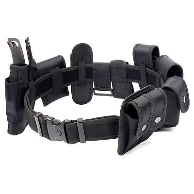 Utility Kit Tactical Belt with 9 Pouches For Police Guard Security System - Belt Guard Kit