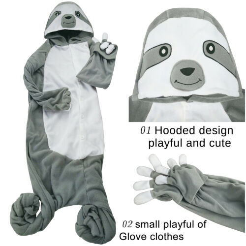 Animal pajamas suit Sloth Onesie10 neutral Unisex Fancy Dress Cosplay sleepwear