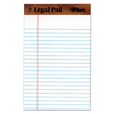 Tops The Legal Pad Ruled Perforated Pads 5 X 8 White 50 Sheets Dozen 7500