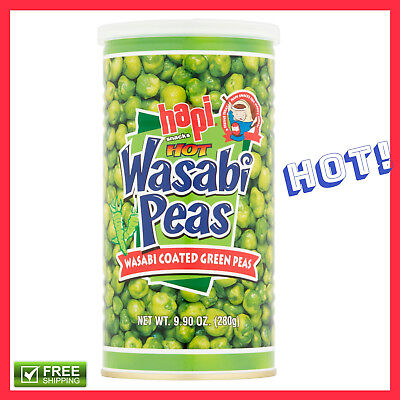 Delicious Spicy and Crispy Wasabi Coated Peas 9.9 Oz Tasty Treat