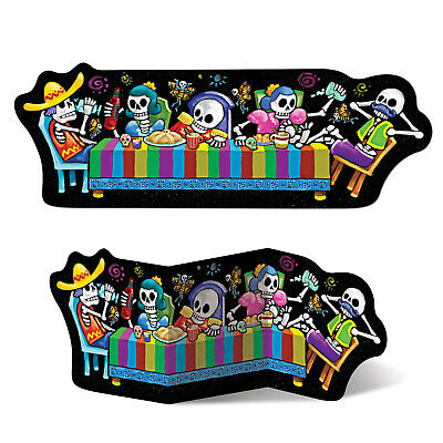 Day of the Dead  Sugar Skulls Cardboard Cutout Halloween Birthday Party Decorati](Day Of The Dead Birthday)