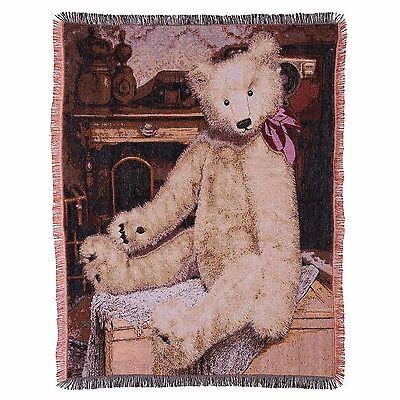 Gund Baby Teddy Bear Throw Blanket Tapestry Vintage Look Hom