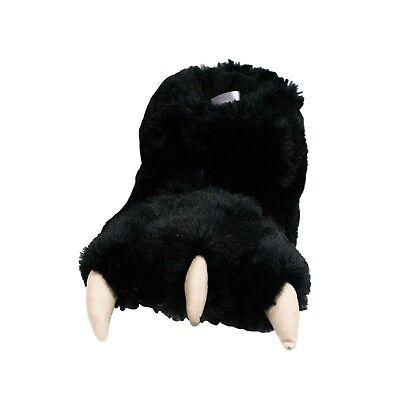 LazyOne Black Bear Paw Slippers