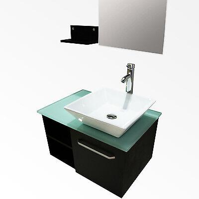 28u201d bathroom vanity cabinet ceramic sink bowl modern design wmirror faucet set