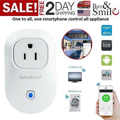 WiFi Smart Plug Power Switch Outlet Alexa Echo Smart Home Wireless Socket US New