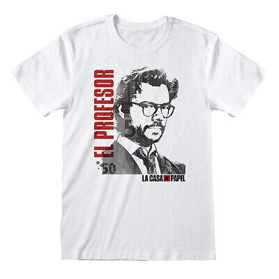 La Casa De Papel Professor El Profesor Official Money Heist Men White T-shirt