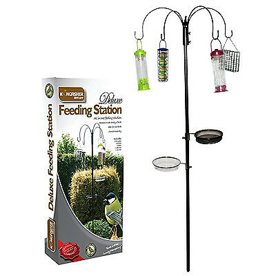 Kingfisher Large Deluxe 4 Hanger Bird Feeder Garden Feeding Station BFSD