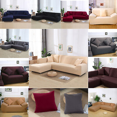 Soft Elastic Sofa Cover Loveseat Armchair Slipcover Protector For 1 2 3 4 Seater ()