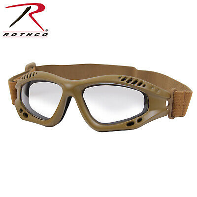 a7deff60ed34 ROTHCO ANSI RATED TACTICAL GOGGLES COYOTE CLEAR LENS