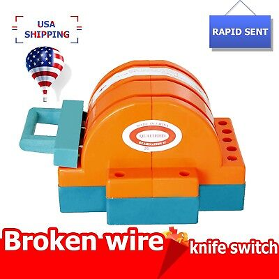 Safety 3 Pole Circuit Breaker Double Throw Disconnect Knife Switch 100amp