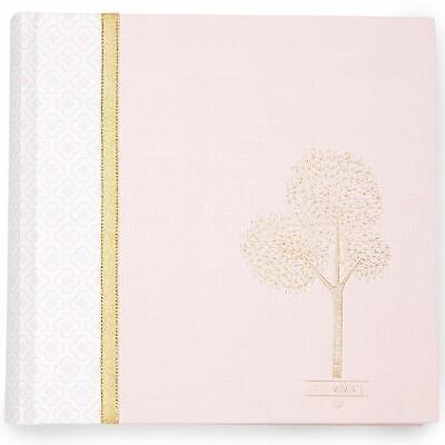 NEW CR Gibson Dwell Studio Pink Gold Treetops Baby Girl Keepsake Photo Album 4x6