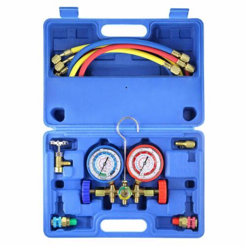 R12 R22 R134A R502 A/C Aire Acondicionado Ac Conjunto de Manometro Refrigerante