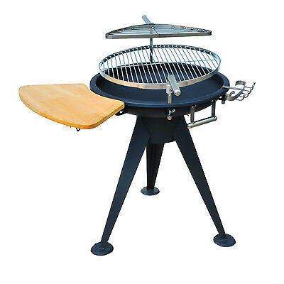Patio BBQ Grill Cooking Burner Charcoal Fire Pit Brazier Stove Stainless Steel