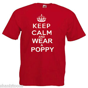 Remembrance-Day-Poppy-Mens-T-Shirt-12-Colours-Size-S-3XL