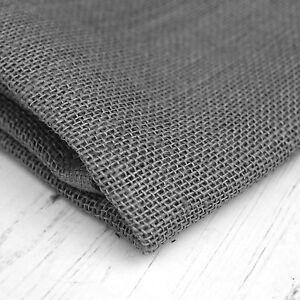 Grey Hessian Jute Burlap Fabric Material Cloth Craft Sacks Upholstery 10oz 90cm