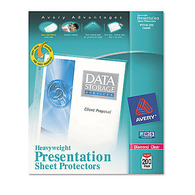 Avery Top-load Poly Sheet Protectors Heavy Letter Diamond Clear 200box 74400