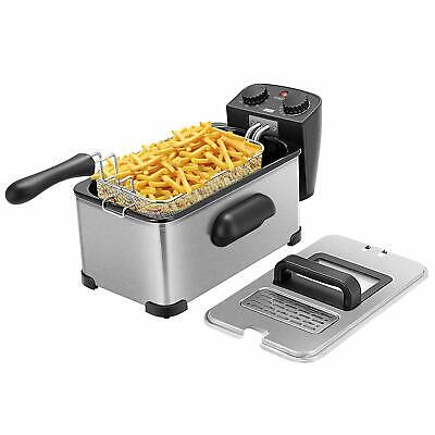Vivohome 1700w Electric Commercial Deep French Fryer Maker Machine Cook W Timer