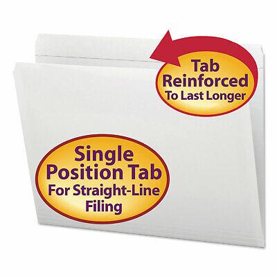 Smead File Folders Straight Cut Reinforced Top Tab Letter White 100box 12810