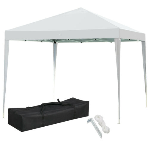 10x10 Ft EZ Pop Up Canopy Folding Gazebo Tent Patio Wedding