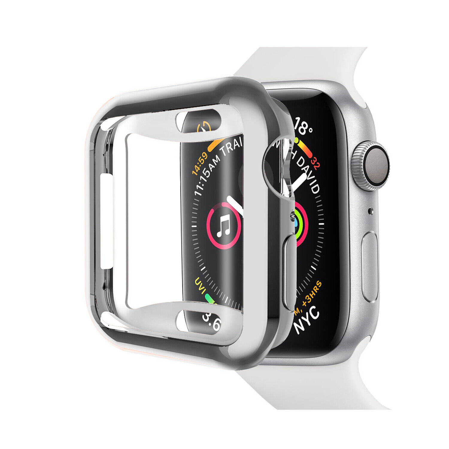 2 Pack For Apple Watch Series 4/5/6/SE 40/44mm Screen Protector Soft Case Cover Cases, Covers & Skins