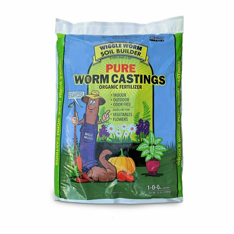 Wiggle Worm Soil Builder Pure Worm Castings Organic Fertilizer, 30 Pound Bag