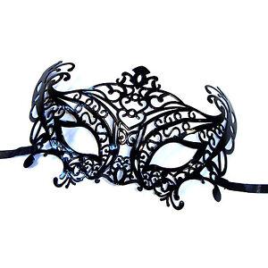 Black-Venetian-Plastic-Filigree-Style-Masquerade-Mask-Masked-Ball-Eyemask-Prom