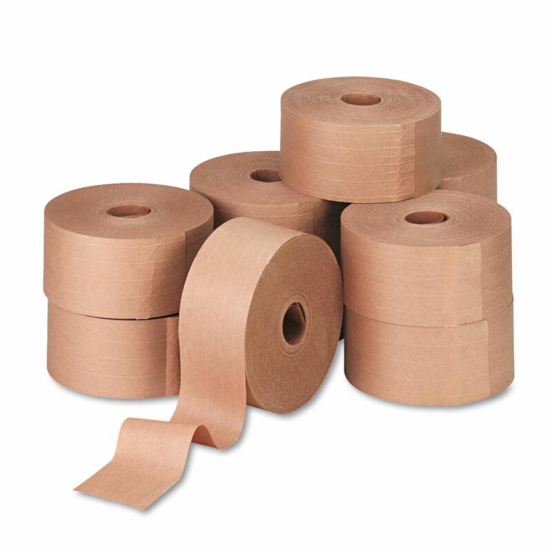"General Supply Reinforced Kraft Sealing Tape 3"" x 450ft Brown 10/Carton 44HD007"