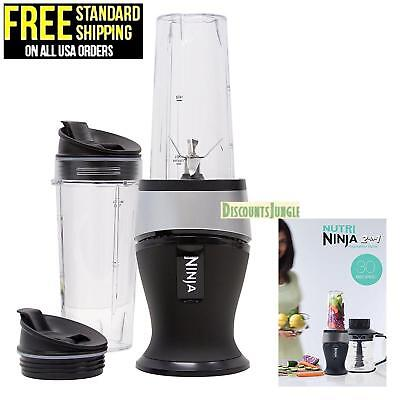 Ninja QB3000SS Wizardry Bullet Smoothie Blender Fit 700W Food Chopper Drink Mixer