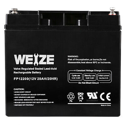 Weize 12V 20Ah Rechargeable Deep Cycle Long Life Lead Acid Universal Battery Rechargeable Lead Acid Battery