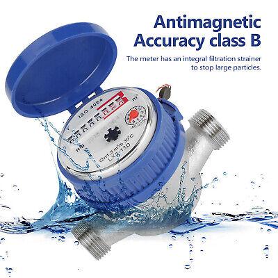 NEW 15mm 1/2 Inch Intelligent Water Meter Household Digital Display M6Z7