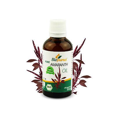 Certificado Orgánico Prensado en Frío Amaranto Aceite 50ml Biopurus