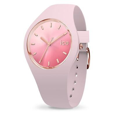 Ice-Watch ICE Sunset Pink Silicone Strap Sunray Dial Medium Women's Watch 015747